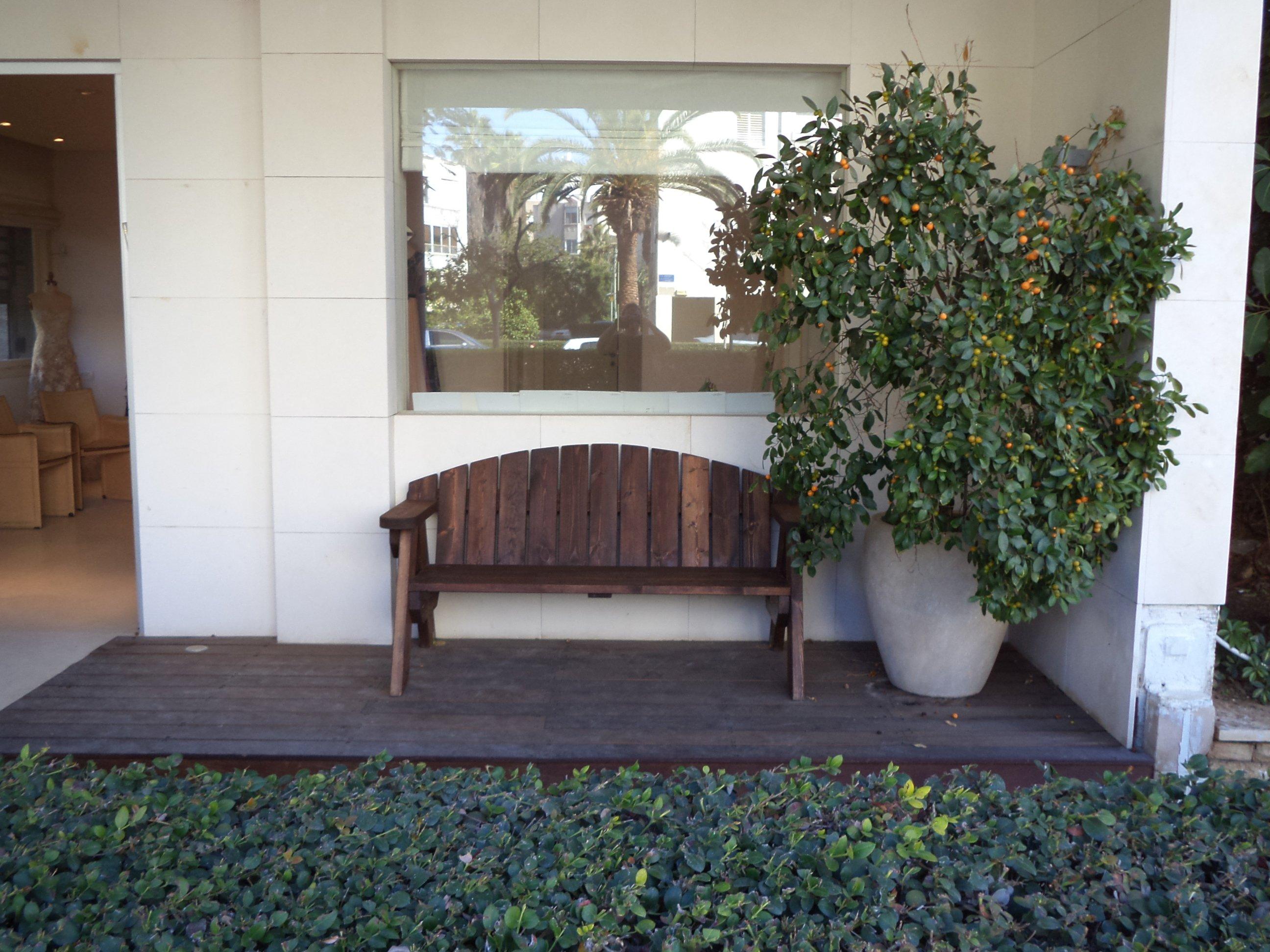ספסל עץ מהודר דגם אלעד